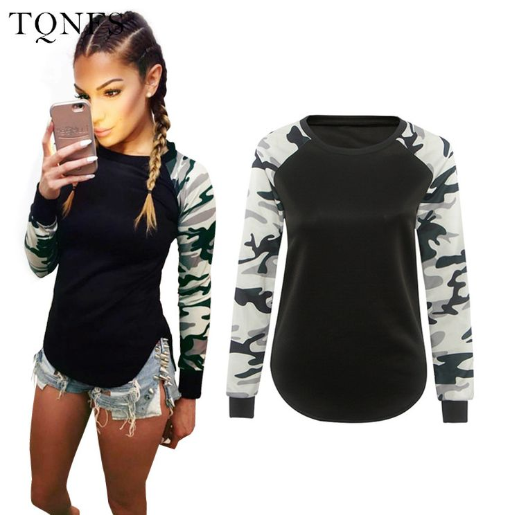 T Shirt Women 2016 Ladies Women's Camouflage Army Long Sleeve Tops T-Shirts Autumn Casual Women TShirt Camisetas Feminina