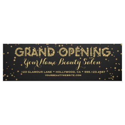 Black Gold Elegant Business Boutique Grand Opening Banner - modern gifts cyo gift ideas personalize