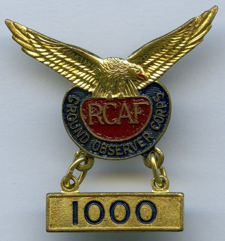 RCAF Ground Observer Corps - 1000 hours