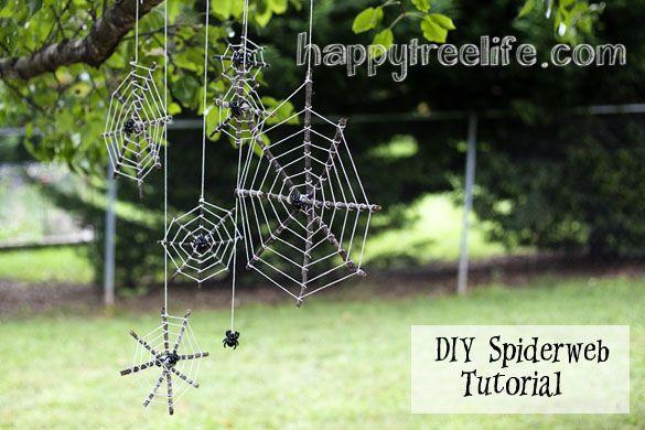 DIY Spider Web Tutorial