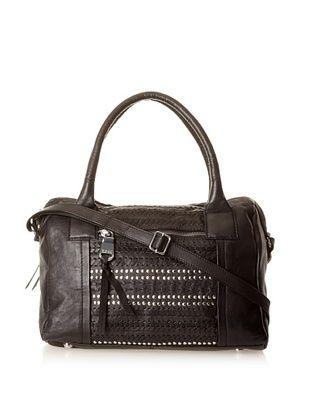 Marc New York Women's Sophie Embellished Leather Satchel (Black)