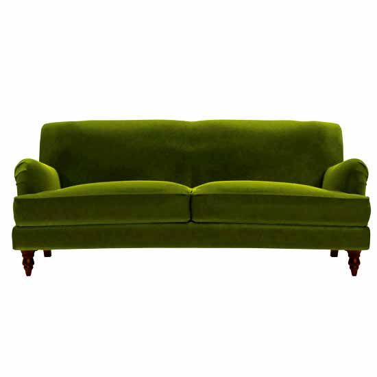 Green velvet Snowdrop sofa.com