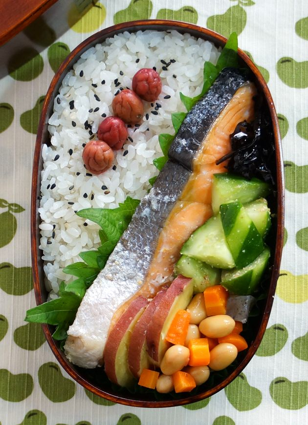 Japanese Traditional Salmon Bento Lunch|Shakeben シャケ弁