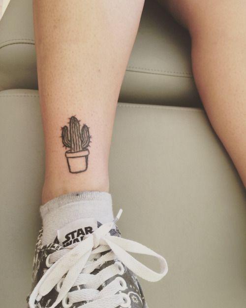cute cactus tattoo