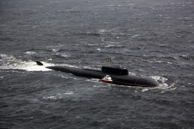 """The Oscar-class cruise-missile submarine """"Voronezh,"""" came to the rescue after they had sent out a distress signal."""