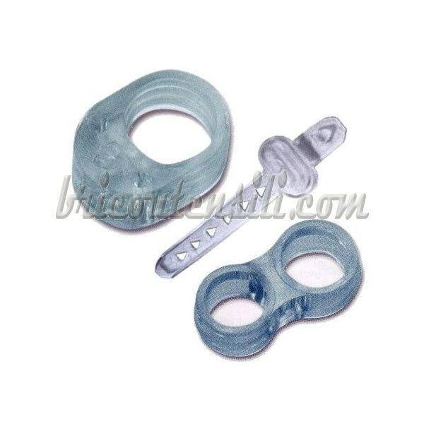 In gomma trasparente, evita che la impugnatura della maniglia, tocchi e danneggi la parte che toccata