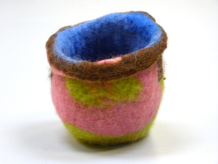 Wool Vessel created during a 2010 wet-felting residency with Tracey Kuffner.