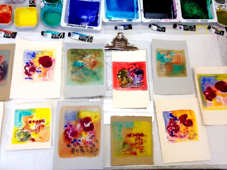 Conducted a successful QoR Watercolour Mono Printing On Paper Workshop in August 2016 in my studio I The Historical Distillery District Toronto