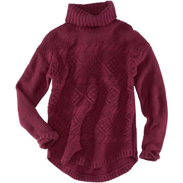 Burgundy Chunky Knit Sweater Fashion Blogger