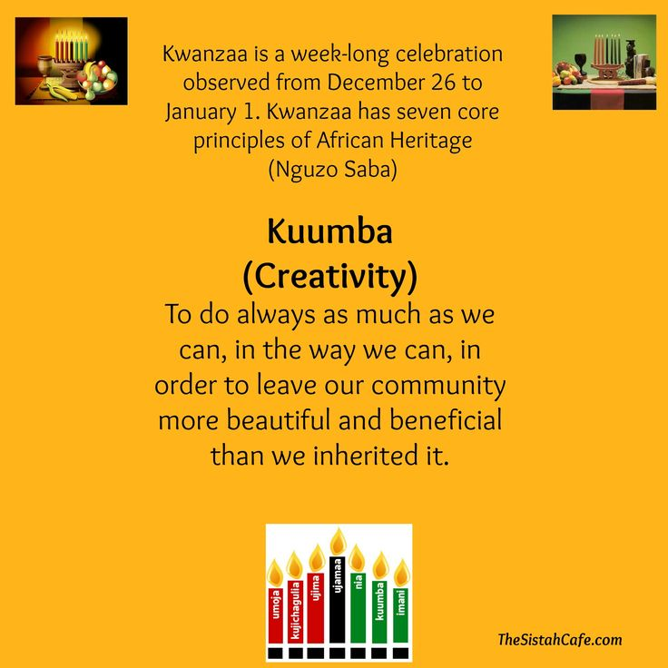 As Kwanzaa ends a brand New Year begins! I would like to recap the 7 principles of Kwanzaa for my first post of this year. Please view this as a reminder of the mindset that we should all carry with us in 2014. You do not have to celebrate Kwanzaa to understand and receive the principles that are valuable to ALL people. (principle definitions are from Wikipedia.com)        We truly appreciate your continued support of TheSistahCafe.com, Our Natural Kids…