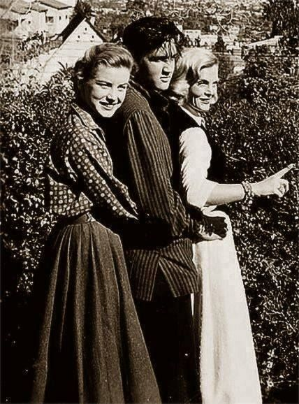 """""""Loving You"""" Elvis Presley with Dolores Hart and Lizabeth Scott"""