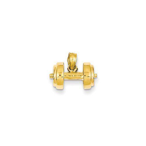 Black Bow Jewellery Company Kurzhantel-Anhänger, 14 Karat Gelbgold    or in English    A Black Bow Jewelry Company. A short 14 karat Golden Barbell