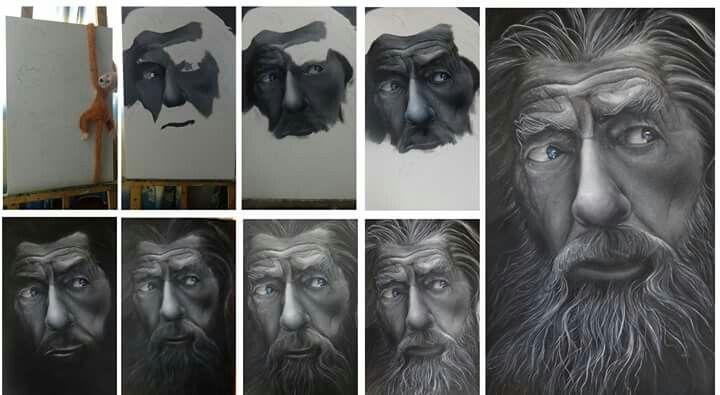 Gandalf steps - Artist: Daking Y