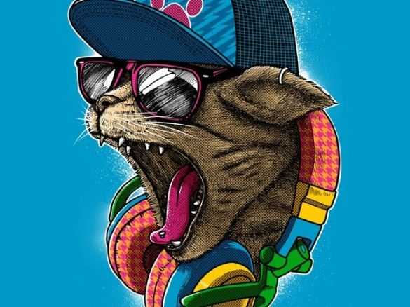 Daily Tee: Cool & Wild t-shirt design by by dzeri29 from manila, Philippines - fancy-tshirts.com