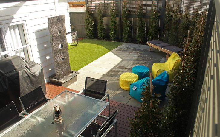 Pine Deck, Paving, Artificial Turf, Fence and Hedges - Pt Chevalier