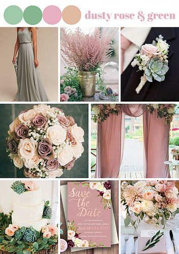 Overly use pink in the wedding is not a great idea. . Try to use the Dusty Rose with the Green as the Wedding Theme