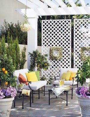 15 id ias para pergolados f r hemmet id er och design for Hanging patio privacy screen