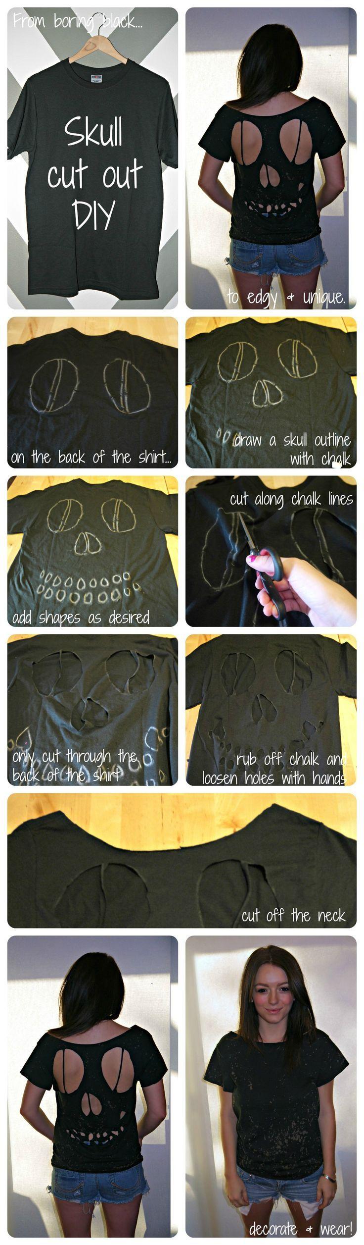 skull shirt! instead do a white shirt with a black undershirt