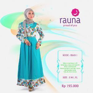 Dress Gamis Rauna Model RK-011 Toska