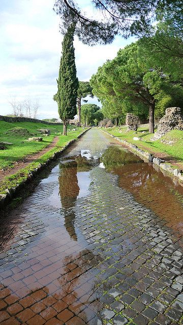 Roma - Appia Antica - the ancient Roman road into the city (Appian Way)
