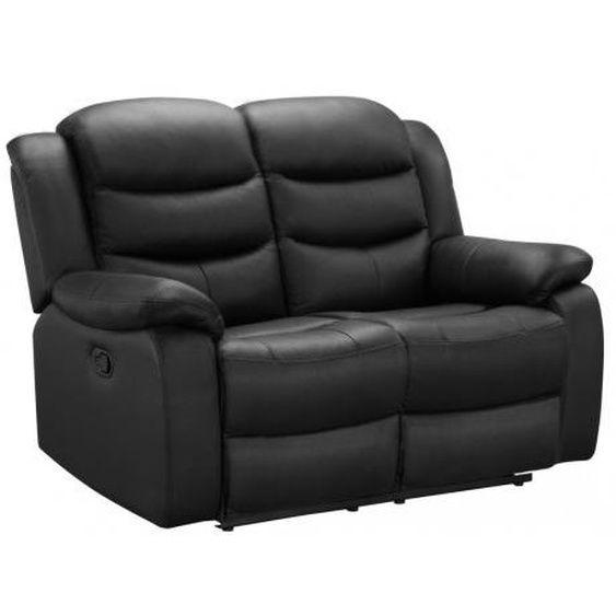 Relaxsofa Leder 2 Sitzer Pliton Schwarz In 2020 Sofa Schwarz Relaxen