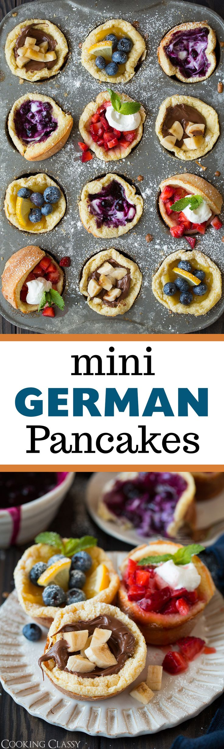 Mini German Pancakes - Cooking Classy