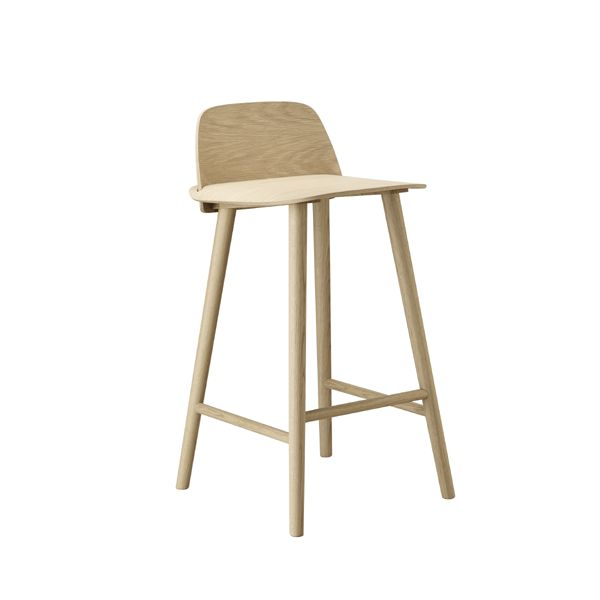 Muuto - Nerd - bar stool low - natural oak