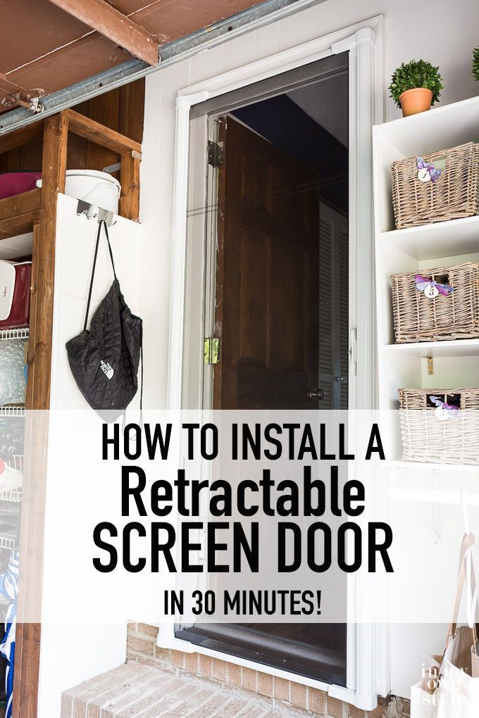 25 best ideas about retractable screen door on pinterest for Pull down retractable screen door