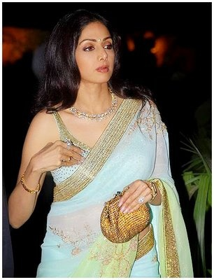 Sridevi in gorgeous Saree ensemble