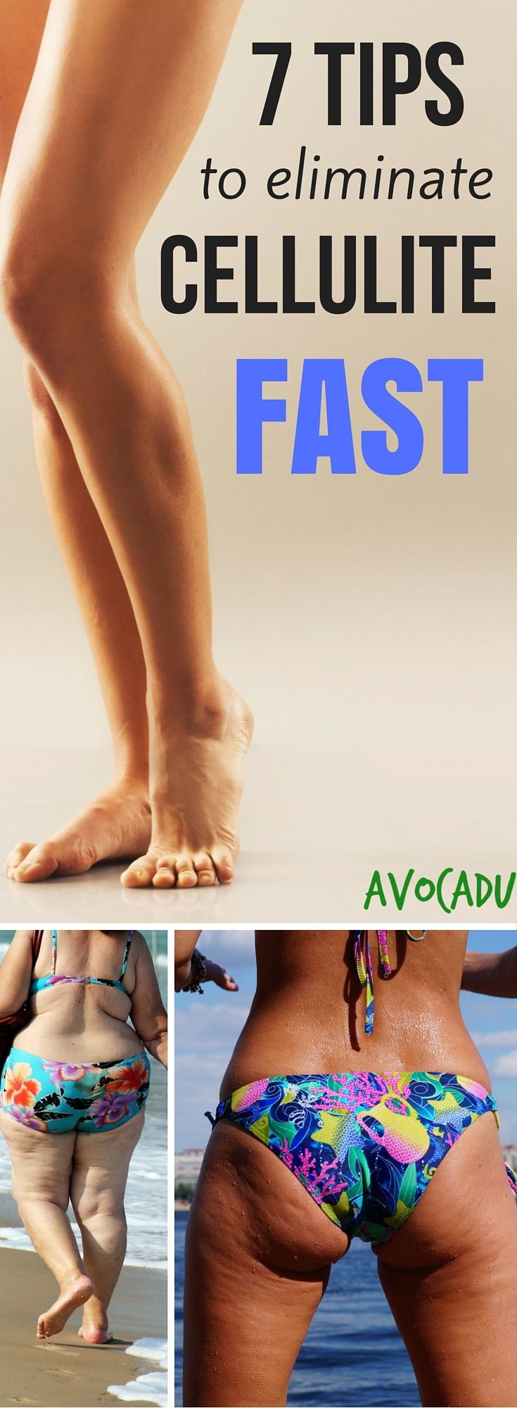 Unfortunately, cellulite is a very common problem women face. While genetics and other factors come into play, there is no woman who cannot get rid of it. With the right plan, cellulite is actually reversible! http://avocadu.com/7-effective-tips-get-rid-cellulite-fast/