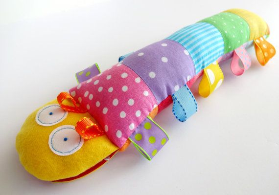 Caterpillar Softie Toy with Ribbons PDF by preciouspatterns