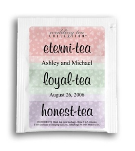 Personalized Tea Bag Favors–95¢ each– could we make these?