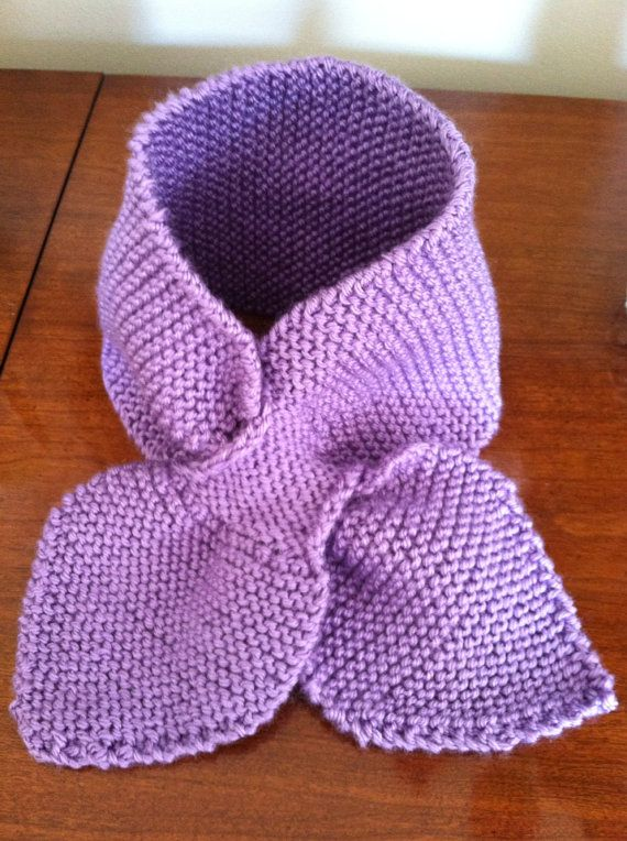 Neck Warmer Lavender Knitted Scarf Light Purple Warm Spring - keep in purse and pull out when needed on Etsy, $12.00