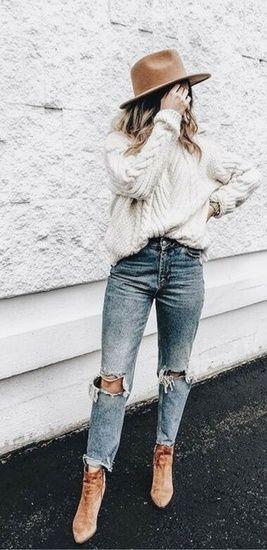 Nice Women casual winter bohemian style #shopthelook #WeekendLook #OOTD #winterstyle #womenfashion #fashion - Ashley W