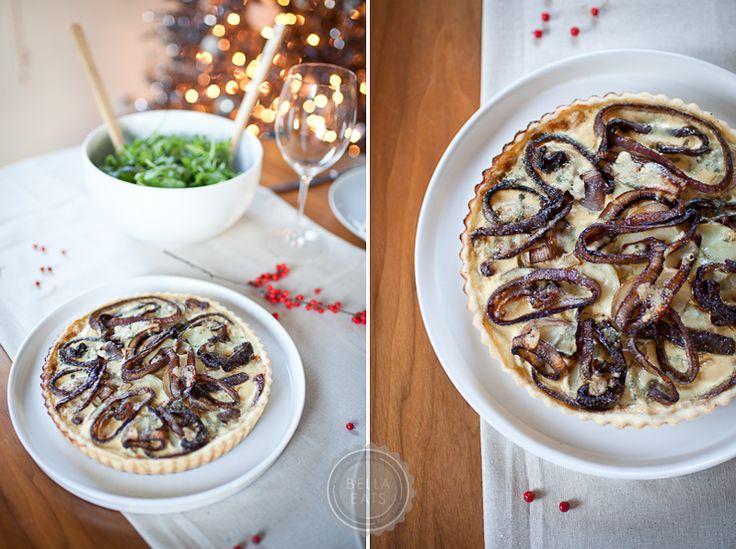 Potato, Red Onion + Blue Cheese Tart #dinner