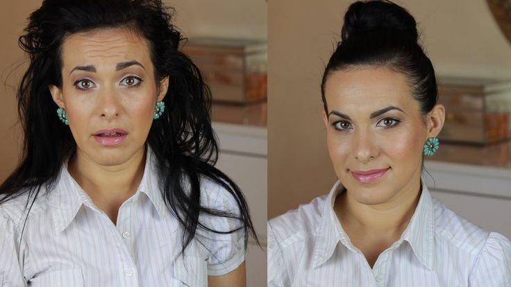 http://www.youtube.com/elenatee - Una #acconciatura d'emergenza. Lo #chignon #alto con #ciambella - #highbun #bun #hairstyle