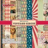 Vintage Circus Papier pakket 24 vel 15,2x15,2cm