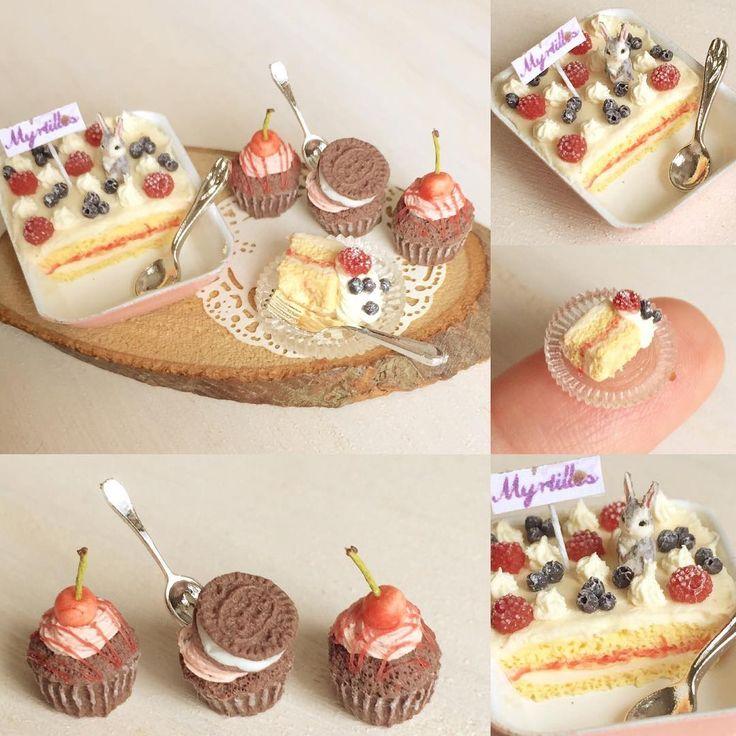 引き続きスコップケーキです。今回はフランボワーズ、ブルーベリーで。懲りもせずグレーうさぎヤフオク出品中です♩ #ミニチュアフード#ミニチュア#ドールハウス#ハンドメイド#食品サンプル#カップケーキ#スコップケーキ#樹脂粘土#粘土#miniaturefood #miniature#dollhouse #cupcakes #polymerclay #clay #handmade