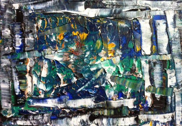 """Jean-Paul Riopelle  """"  Ancienne rivière  """"    huile sur toile, 1974"""