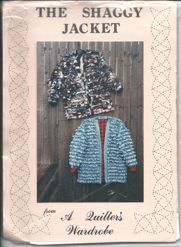The Shaggy Jacket Small Medium Large XLarge Vintage Pattern A Quilters Wardrobe…
