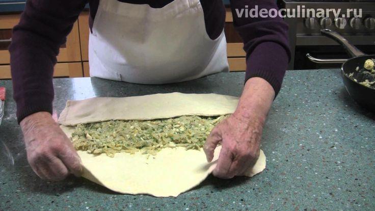 Пирог из слоёного теста с капустой видеокулинария.рф Бабушка Эмма