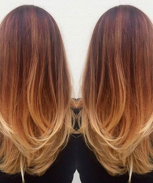 15 Fashionable Balayage Hair Looks: #2. Copper Balayage Hair for Women