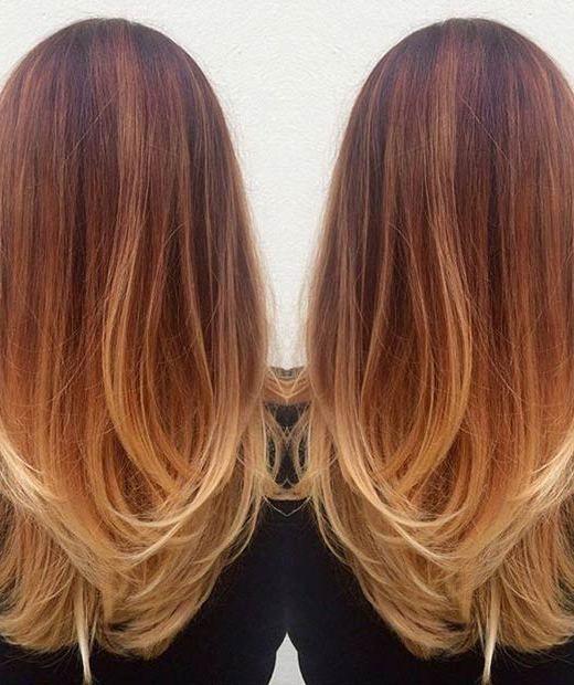 15 Fashionable Balayage Hair Looks: #2. Copper Balayage Hair for Women
