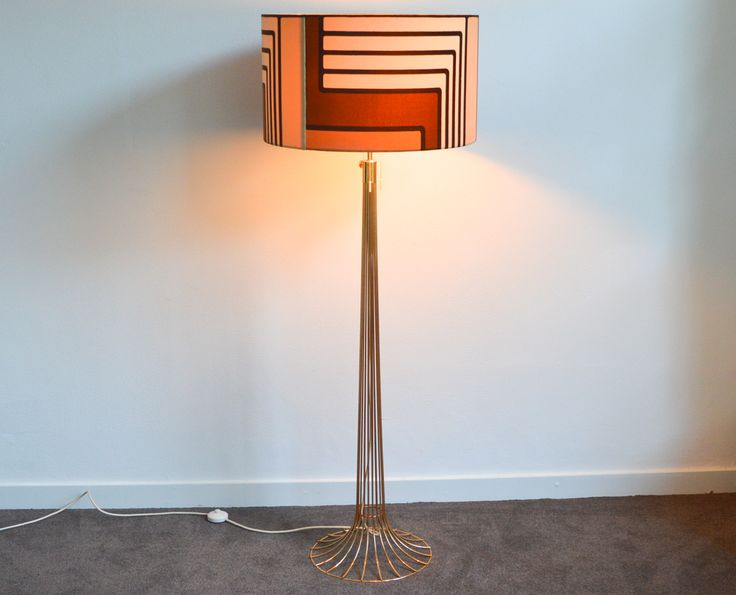 Vintage Wire Floor Lamp by Verner Panton for Fritz Hansen // 1967 - Wall - Greedfineart.com