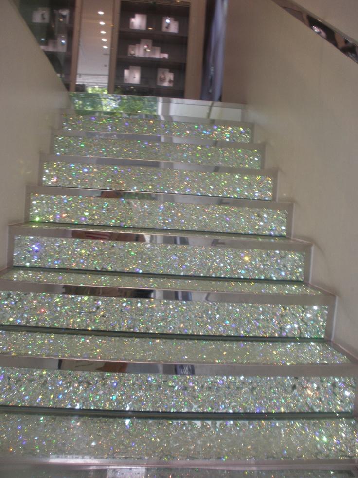 Swarovski Crystal Staircase in the Paris store