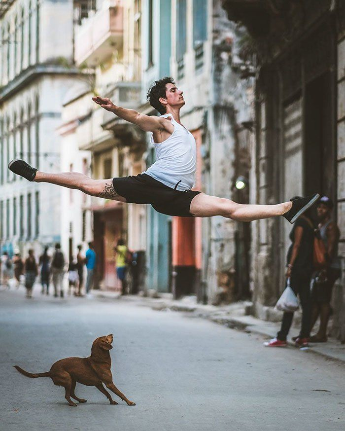 Omar Robles ballet bailarines calles Cuba 4