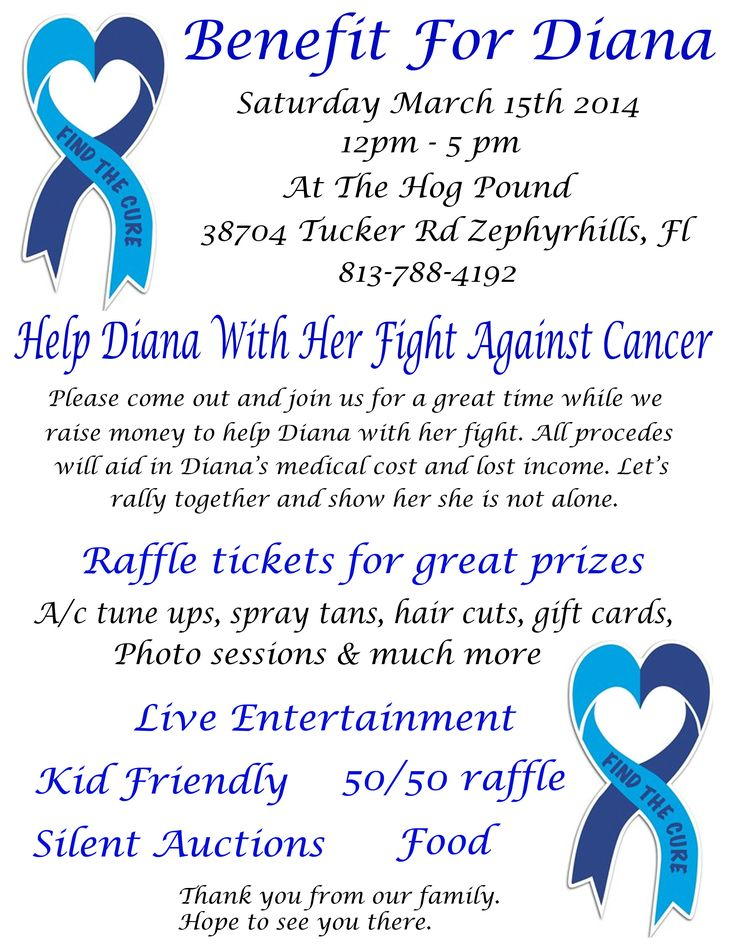 15 best Fundraiser Benefit Flyers For Cancer and Health Awareness images on Pinterest  Benefit