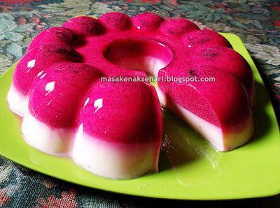 Resep Puding Buah Naga | Resep Masakan Indonesia - masakenaksehari.blogspot.com