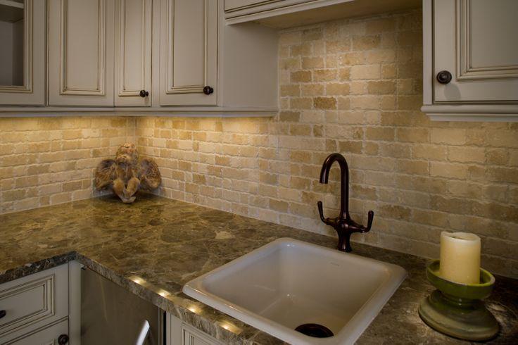 chiseled edge travertine backsplash palatial stone