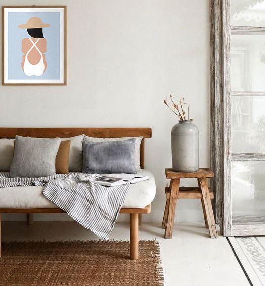 Modern Minimalisthome Design: #simpleart #warmtones #naturaldecor #walldecor